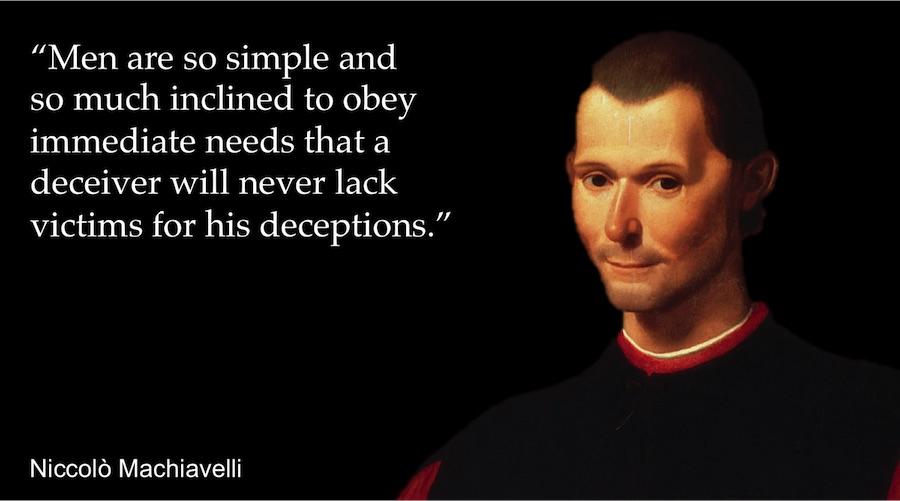 machiavelli principles of power